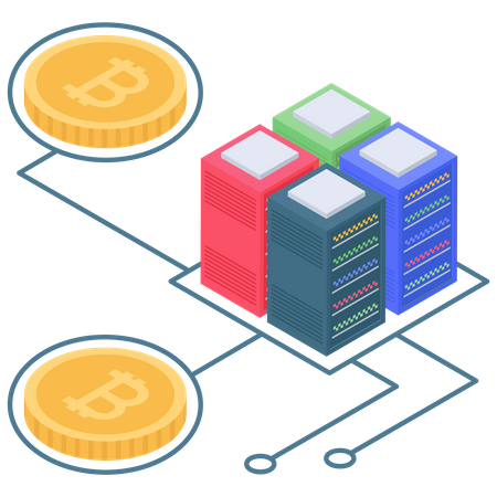 Bitcoin server or database connectivity Illustration