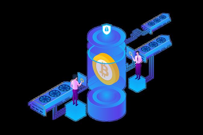 Bitcoin Shield Illustration
