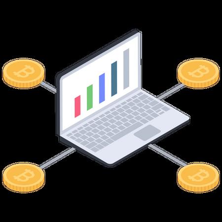 Bitcoin statistics Illustration