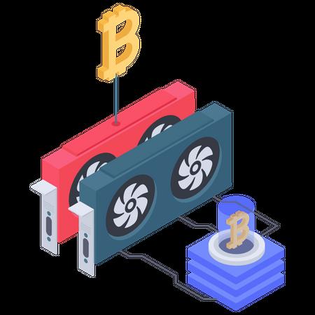 Bitcoin storage cooling system Illustration