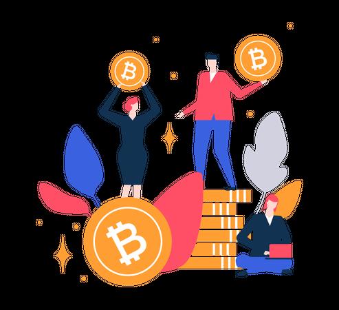 Bitcoin Trading Illustration