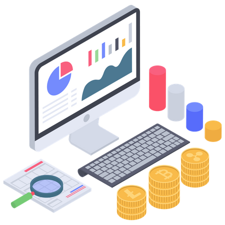 Bitcoin Value research and analytics Illustration
