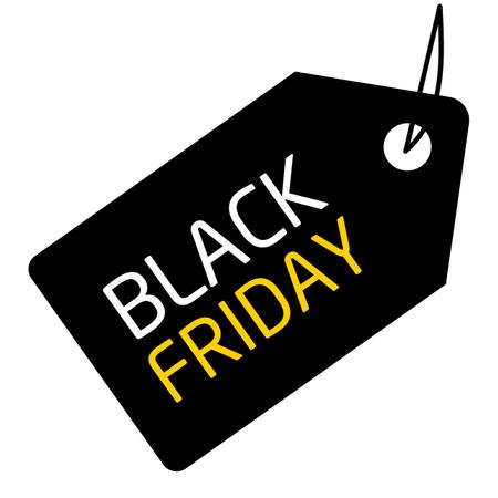 Black Friday Sale Banner Illustration