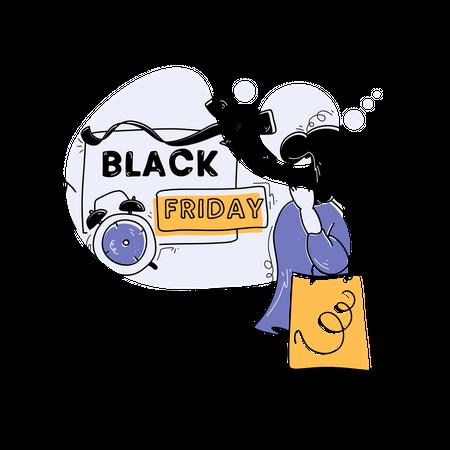 Black Friday Sales Illustration