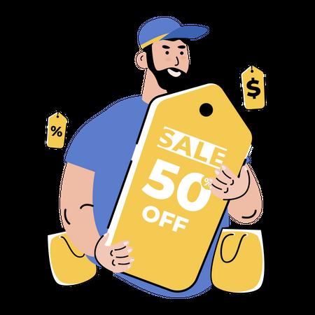 Black Friday shopping sale Illustration