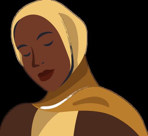 Black Muslim woman Illustration