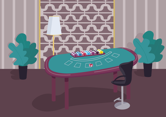 Blackjack table Illustration