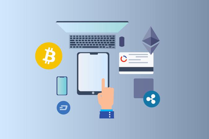 Blockchain Platform Illustration