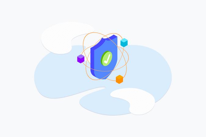 Blockchain Security Illustration