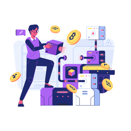 Blockchain Technology Illustration