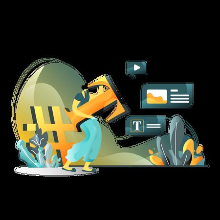 Blog Content Illustration