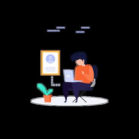 Blogger Illustration