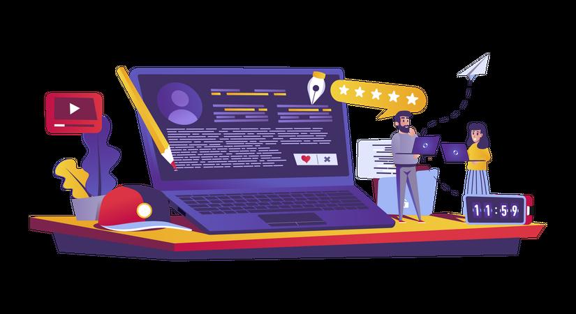 Blogging service Illustration