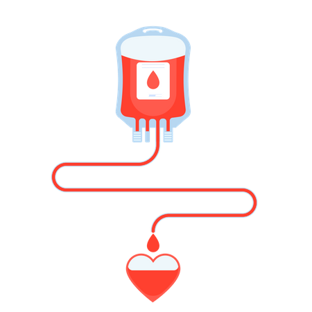 Blood Donation, Give Blood, Safe Life And Charity Illustration
