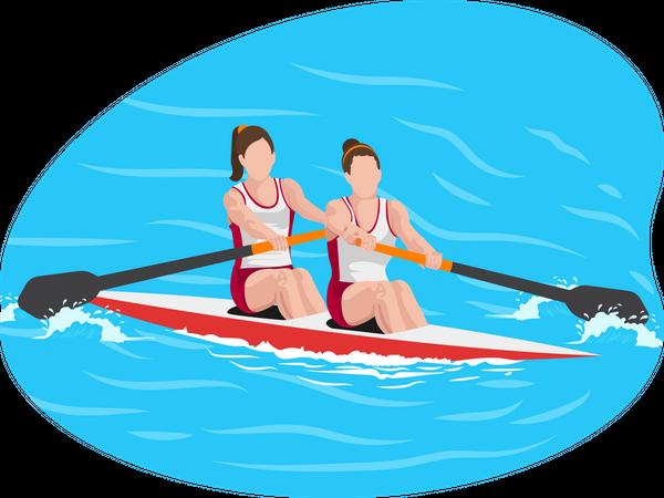 Boating Illustration