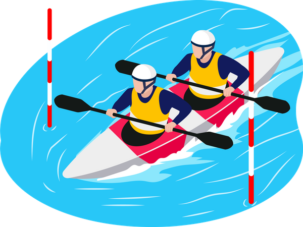 Boating team Illustration