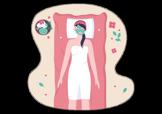 Body Spa Illustration