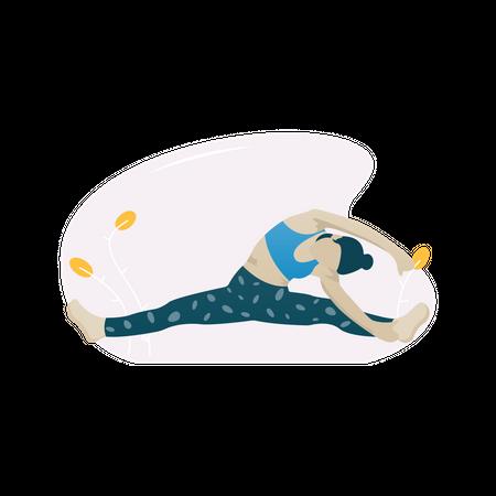 Body stretching exercise Illustration
