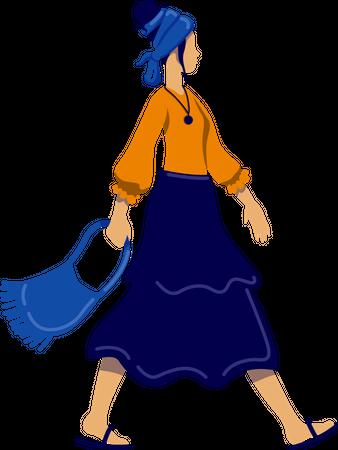 Bohemian style female Illustration