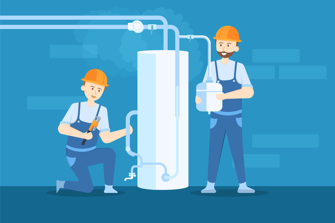 Boiler Repairing Illustration