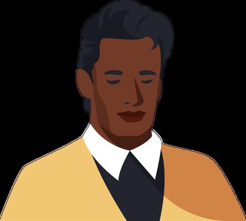 Bold black gentlemen Illustration