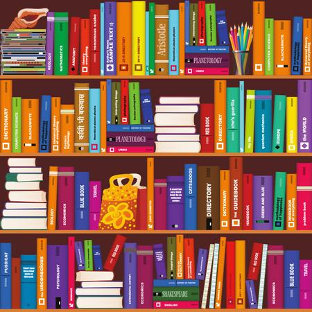 Bookshelf Illustration