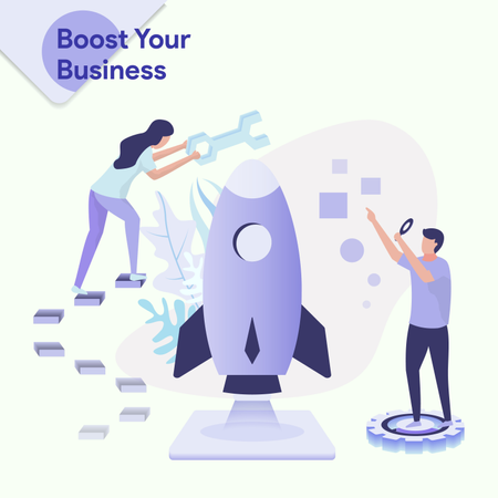 Boost Your Business Illustration