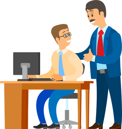 Boss Professional Leader of Company and Worker Illustration