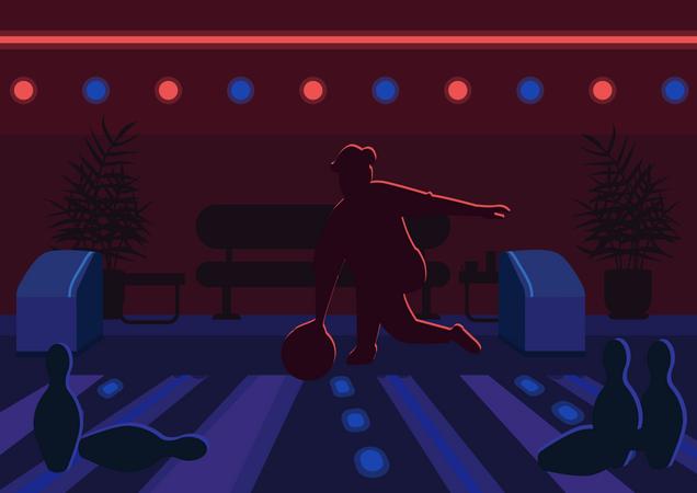 Bowling alley Illustration