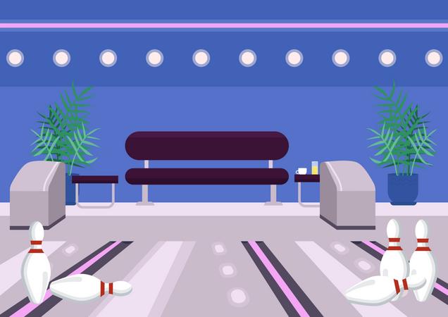 Bowling center Illustration