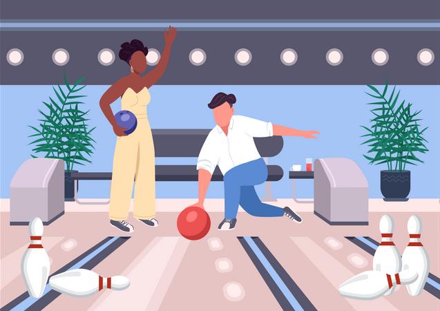 Bowling date Illustration