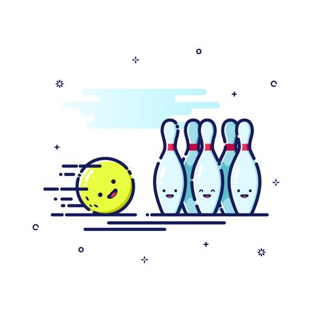 Bowling Sport Illustration