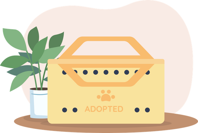 Box for adopted animal Illustration