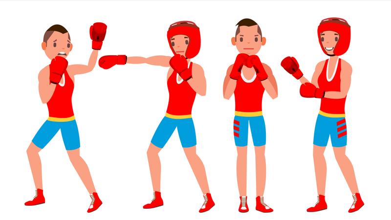 Boxer Player Illustration