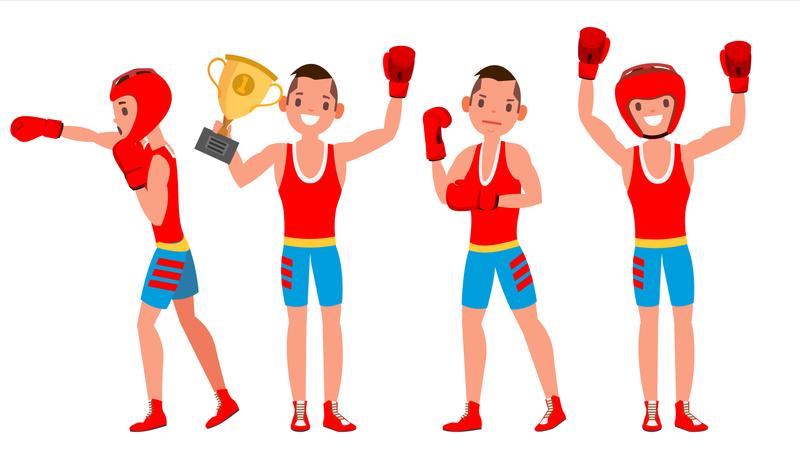 Boxer Training Vector Illustration