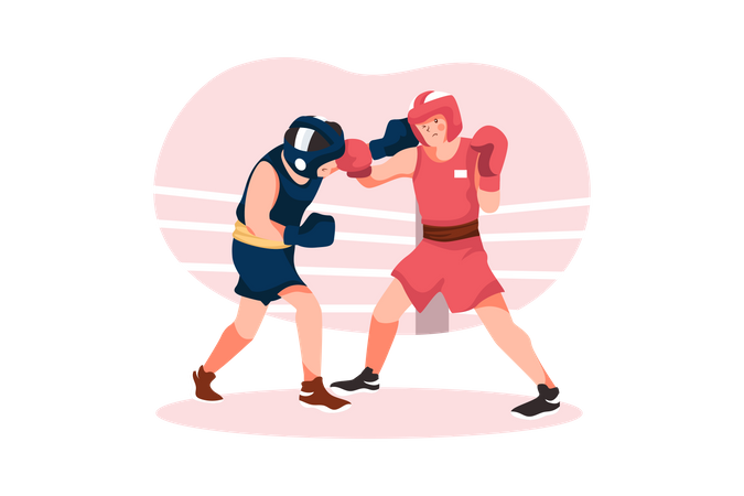 Boxing match Illustration