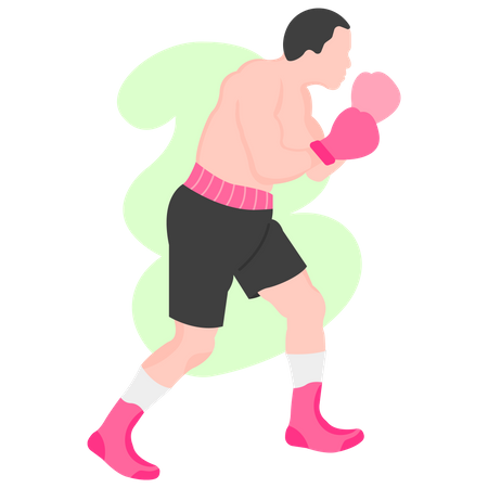 Boxing player Illustration