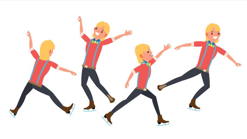 Boy Figure Skater Illustration