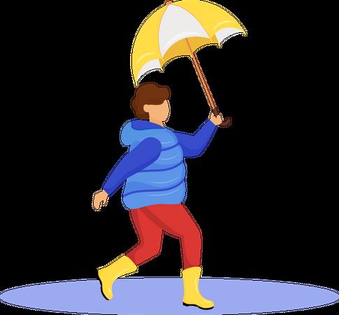 Boy in coat Illustration