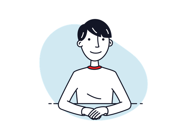 Boy in video conference Illustration