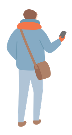 Boy in winter clothes Illustration