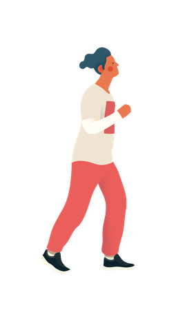 Boy jogging Illustration