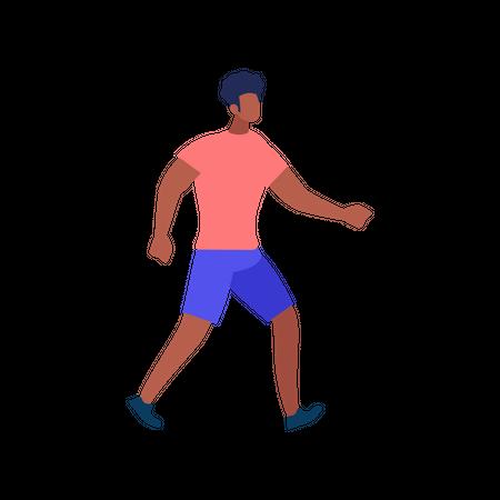 Boy walking Illustration