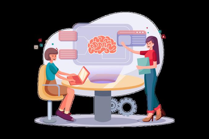 Brainstorming process Illustration