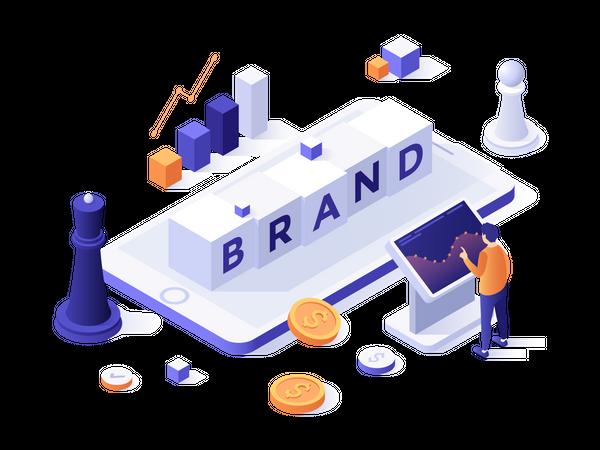Brand management Illustration