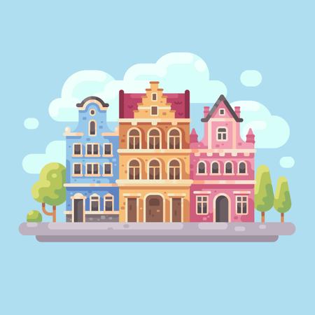Bright city street Illustration