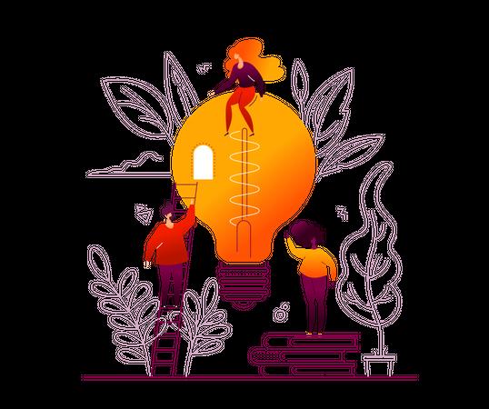 Bright idea Illustration