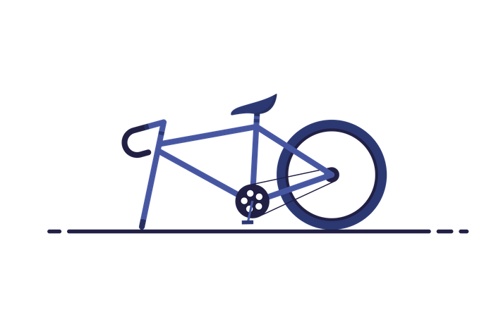 Broken bike Illustration