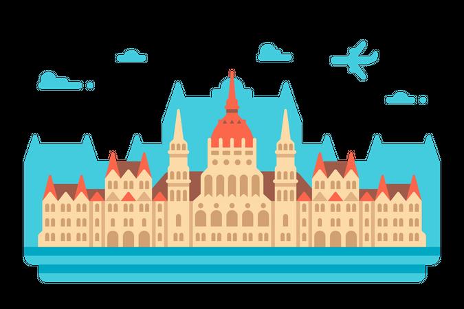 Budapest Parliament Illustration