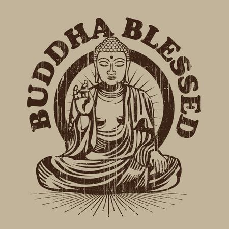 Buddha Blessed Illustration